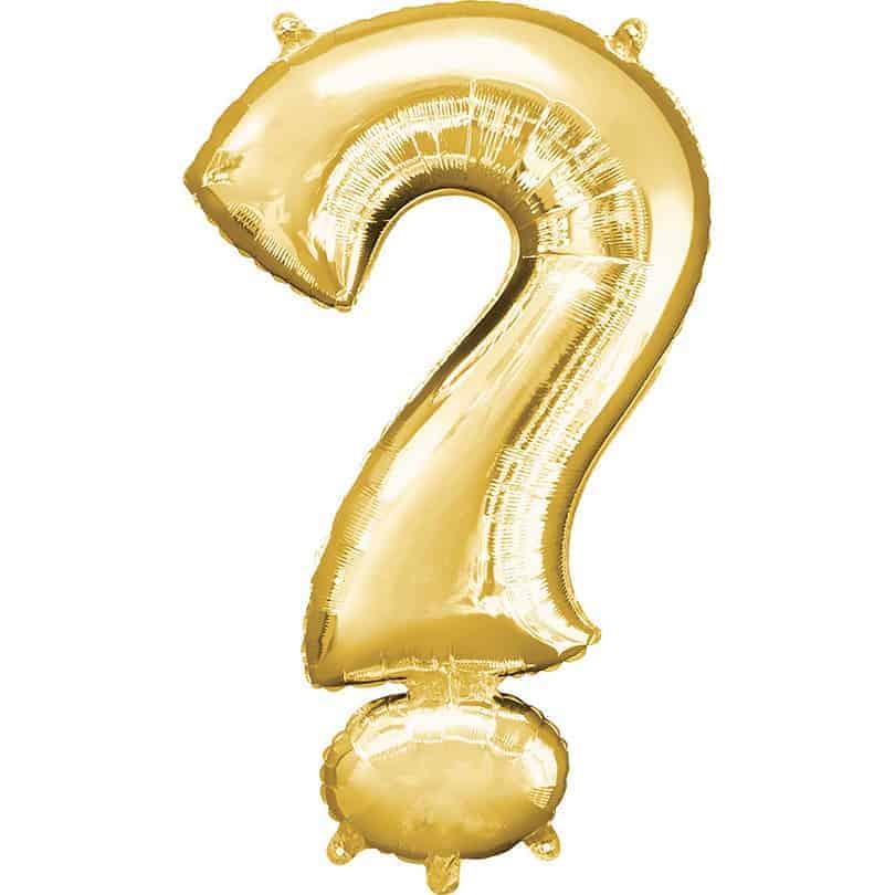 34 Foil Gold Symbol Balloon Man
