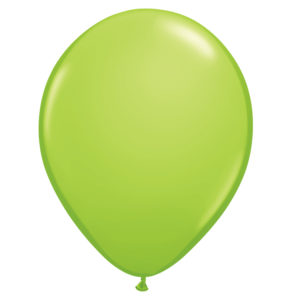 5 inch lime green pastel latex balloon