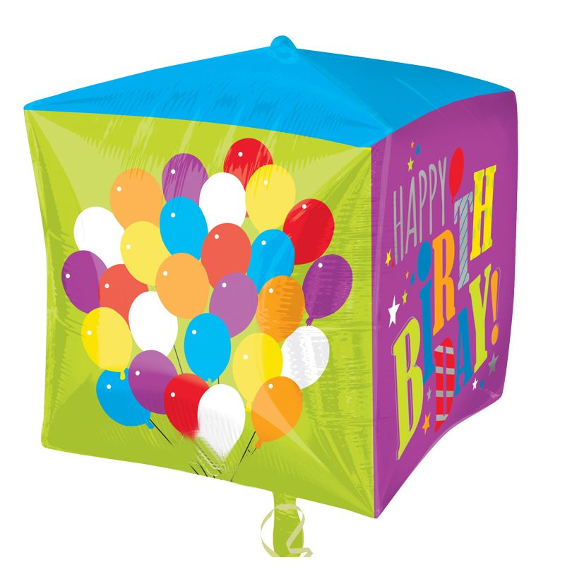 15 Cubez Balloons Birthday Balloon