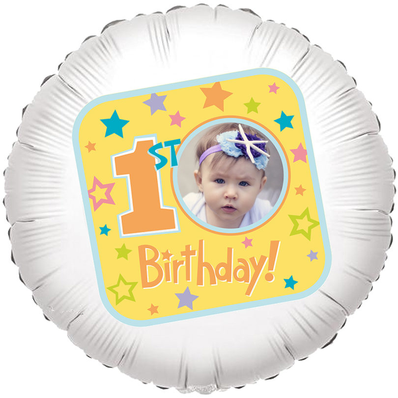 22 Personalised 1st Birthday Balloon